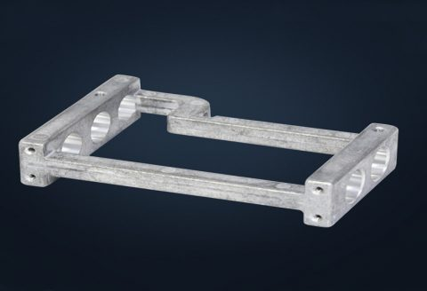 Die casting aluminum alloy shell bracket product processing plant